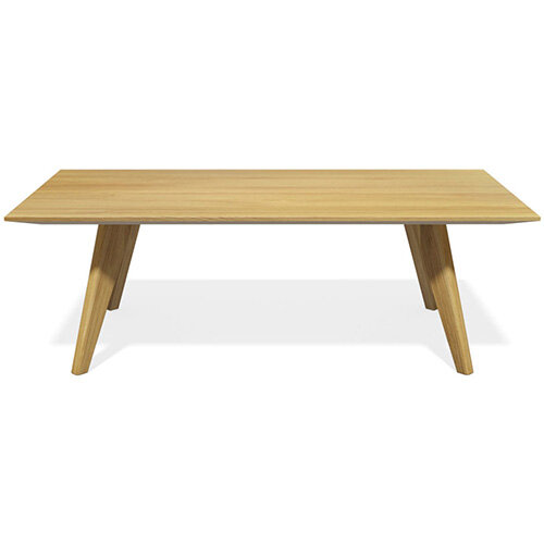 Frovi SCANDI Rectangular Coffee Table With Natural Oak Frame W1000xD600xH390mm