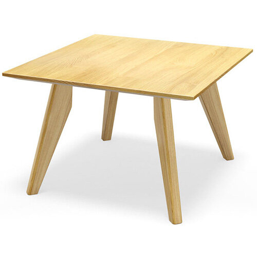 Frovi SCANDI Square Coffee Table With Natural Oak Frame W800xD800xH390mm
