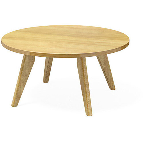 Frovi SCANDI Round Coffee Table With Natural Oak Frame Dia800xH390mm