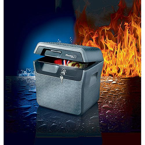Masterlock Jumbo Waterproof Fire-Safe Chest LFHW40102 Capacity 18.6L 30min Fire Protection Grey