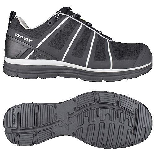 Snickers Evolution Black Work Shoes Size 42/Size 8 SG8