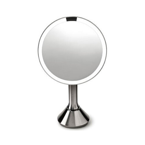 Simplehuman Free Standing Sensor Mirror Dia. 20cm 5x Magnification Stainless Steel Rechargeable BT1080