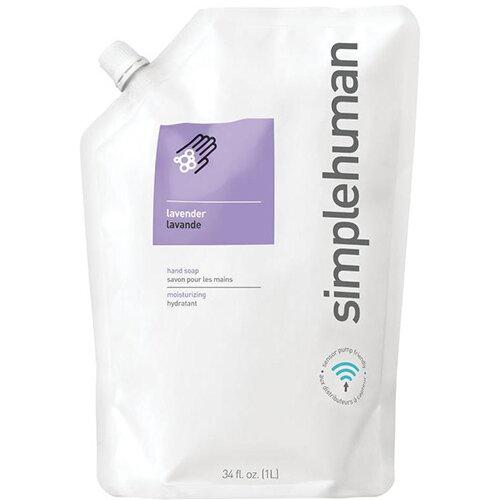 Simplehuman 1 Litre Soap Dispenser Refill Pouch, Moisturising Liquid Soap Lavender CT1022