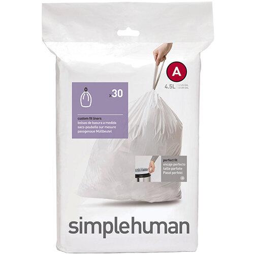 Simplehuman Custom Fit Bin Liners Code A 4.5L, Pack of 30 CW0160