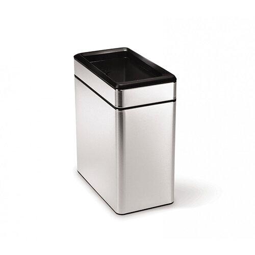 Simplehuman Profile Bathroom Bin 10L Open Top Brushed Stainless Steel CW1225