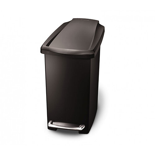 Simplehuman Slim Design Plastic Bin 10L Pedal Operated Black CW1329