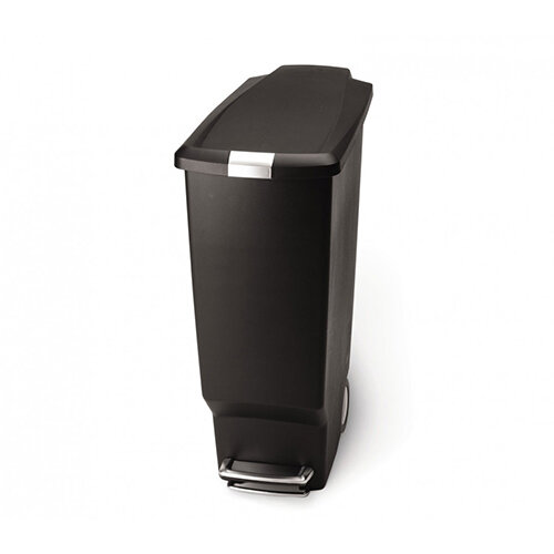 Simplehuman Slim Design Plastic Bin 40L Pedal Operated Black CW1361