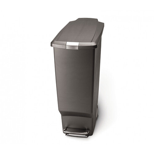 Simplehuman Slim Design Plastic Bin 40L Pedal Operated Grey CW1363