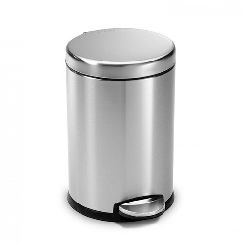 Simplehuman Round Bathroom Bin 4.5L Pedal Operated Brushed Stainless Steel CW1852CB