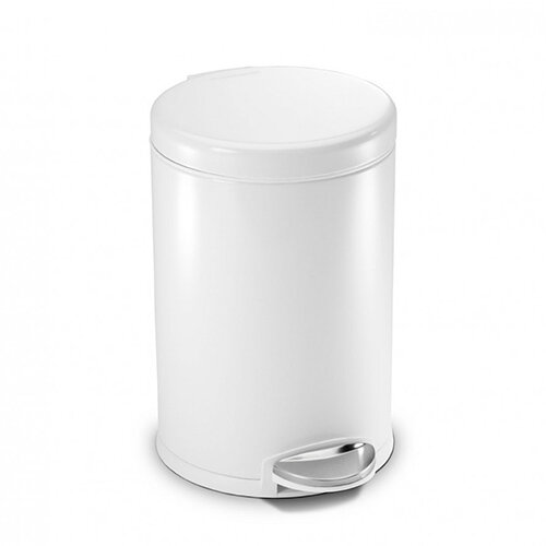 Simplehuman Round Bathroom Bin 4.5L Pedal Operated White Steel CW1853CB
