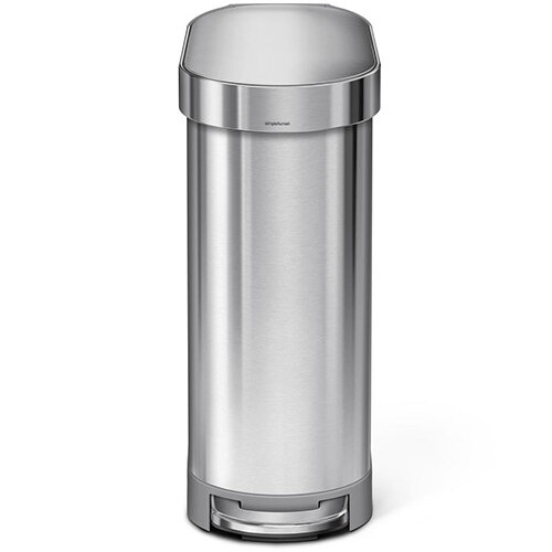 Simplehuman Slim Design Steel Bin 45L Pedal Operated Brushed Stainless Steel CW2044