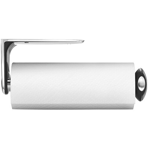 Simplehuman Kitchen Roll Holder Long Wall Mountable, Brushed Steel KT1024