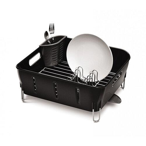 Simplehuman Compact Plastic Dishrack Black KT1105