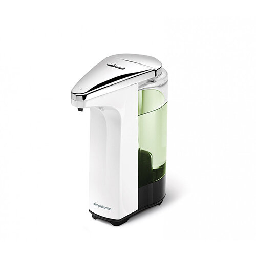 Simplehuman Liquid Sensor Soap Pump Dispenser 237ml White - Takes 4 AA Batteries (not included) ST1018
