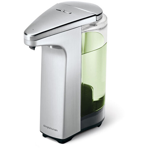 Simplehuman Liquid Sensor Soap Pump Dispenser 237ml Brushed Nickel - Takes 4 AA Batteries (not included) ST1023