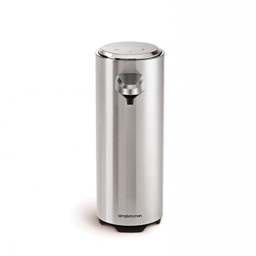 Simplehuman Liquid Sensor Soap Pump Dispenser 237ml Brushed Nickel - Rechargeable ST1034