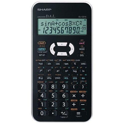 sharp black el 531xh scientific calculator el531xbwh huntoffice ie