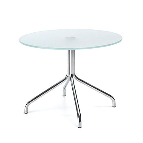 Round Glass Coffee Table D600xH450 4 Star Base