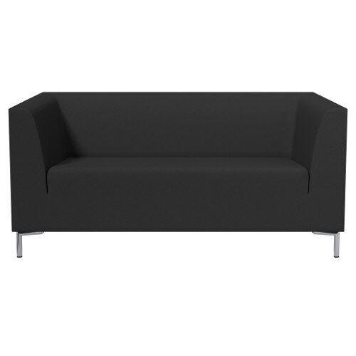 SIGMA 2 Seater Sofa With Standard Metal Legs - EVERT Fabric Black E001
