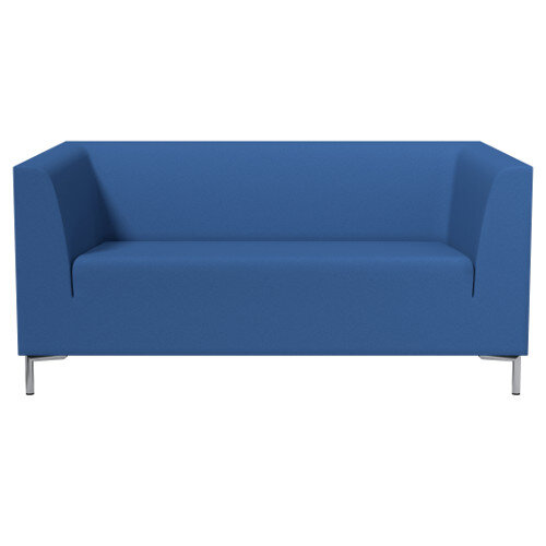 SIGMA 2 Seater Sofa With Standard Metal Legs - EVERT Fabric Blue E032