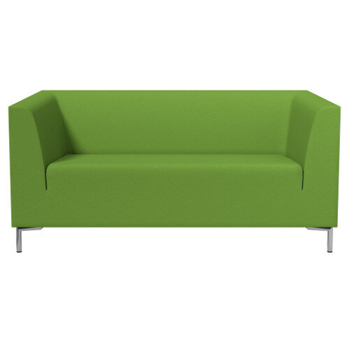 SIGMA 2 Seater Sofa With Standard Metal Legs - EVERT Fabric Lime Green E051