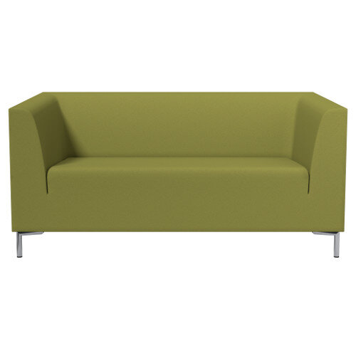 SIGMA 2 Seater Sofa With Standard Metal Legs - EVERT Fabric Olive Green E052