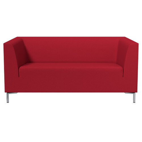 SIGMA 2 Seater Sofa With Standard Metal Legs - EVERT Fabric Red E090