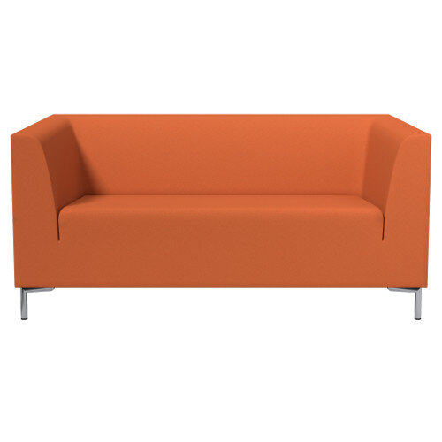 SIGMA 2 Seater Sofa With Standard Metal Legs - EVERT Fabric Orange E110