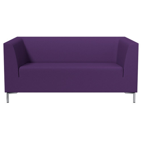 SIGMA 2 Seater Sofa With Standard Metal Legs - EVERT Fabric Purple E130