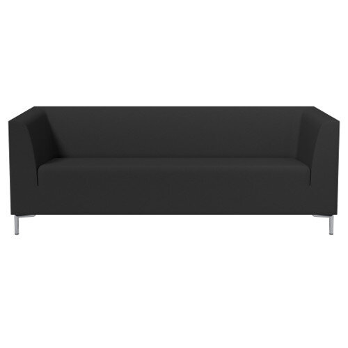 SIGMA 3 Seater Sofa With Standard Metal Legs - EVERT Fabric Black E001