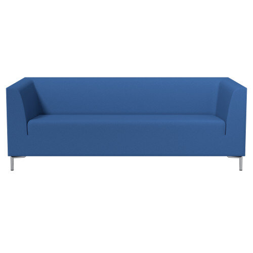 SIGMA 3 Seater Sofa With Standard Metal Legs - EVERT Fabric Blue E032