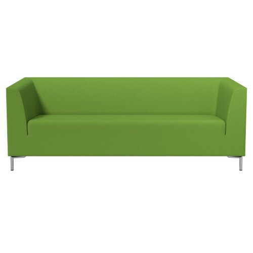 SIGMA 3 Seater Sofa With Standard Metal Legs - EVERT Fabric Lime Green E051