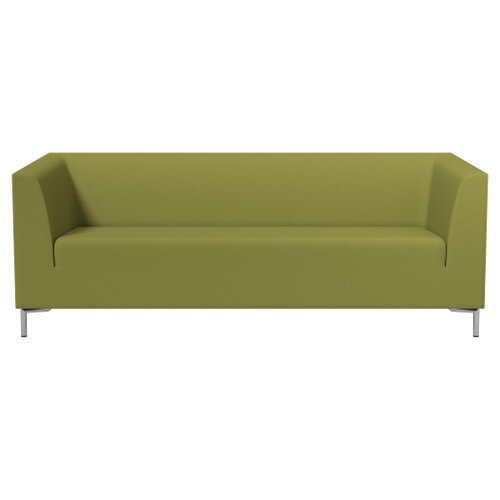 SIGMA 3 Seater Sofa With Standard Metal Legs - EVERT Fabric Olive Green E052