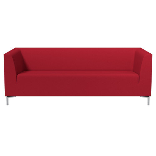 SIGMA 3 Seater Sofa With Standard Metal Legs - EVERT Fabric Red E090
