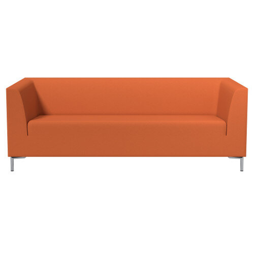 SIGMA 3 Seater Sofa With Standard Metal Legs - EVERT Fabric Orange E110