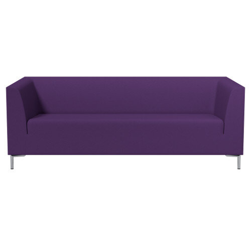 SIGMA 3 Seater Sofa With Standard Metal Legs - EVERT Fabric Purple E130