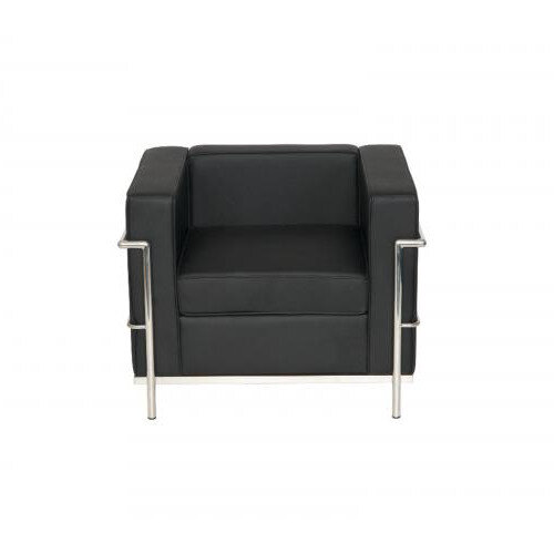 Korby Single Seater Executive Armchair Black Faux Leather
