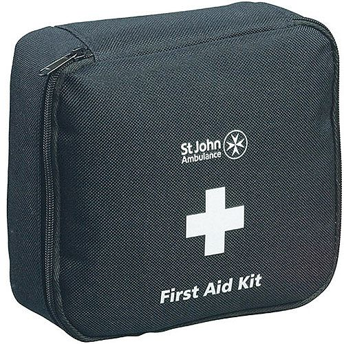 St John Ambulance Motor Vehicle First Aid Kit – High Quality, BS8599-2, Suitable For Motor Environments, Durable, Compact, Zipped, Well-Stocked &Medium Size For 1-8 People (F30801)