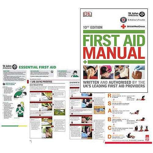 St John Ambulance First Aid Manual 10th Edition Book (Pack of 1) P95145
