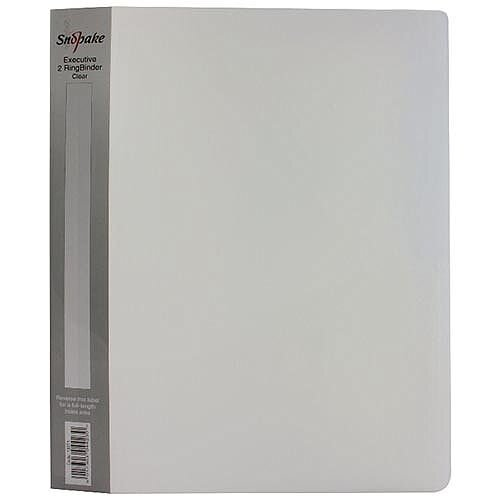 Snopake Polypropylene Executive A4 Ring Binder 25mm Clear 13371
