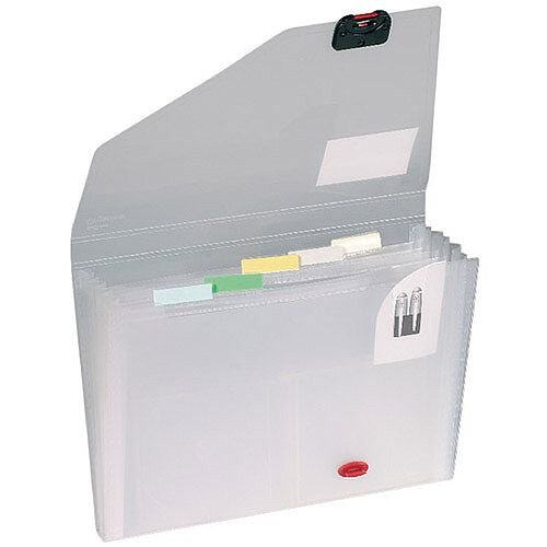 Snopake 6-Part Organiser A4 Smoke/Clear 11893