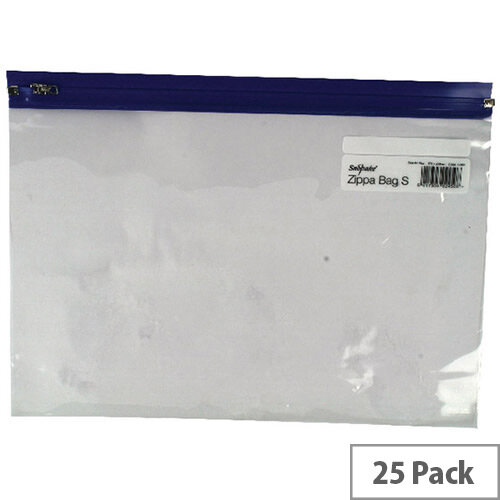 Snopake Zippa Bag A4 Plus Blue Pack 25 12804