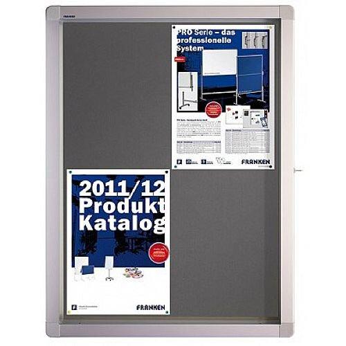 Franken Display Case ECO Outdoor Felt Grey 12 x A4 SK12PTE12
