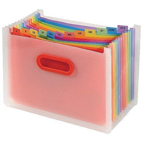 Snopake Rainbow A4 13 Part Desk Expander 15809