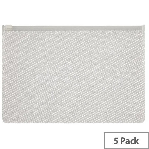 Snopake EPPE Zippa-Bag 200 x 255mm White Pack of 5 15813
