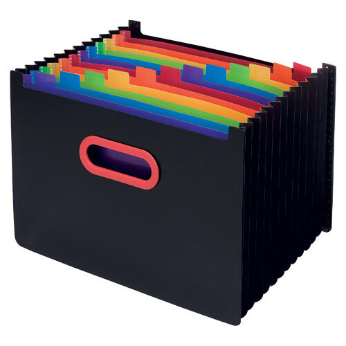 Snopake 13 Part Desk Expander A4 Rainbow/Black 15851