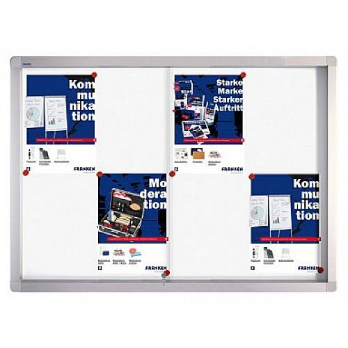 Franken Display Case PRO Magnetic Whiteboard 9 x A4 SK6109