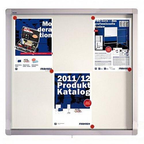 Franken Display Case ECO Outdoor Magnetic Whiteboard 6 x A4 SK6SE