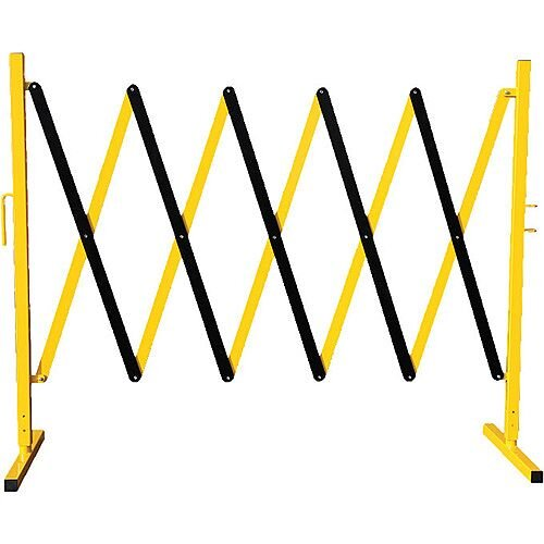 Expandable Yellow &Black Steel Safety Barrier