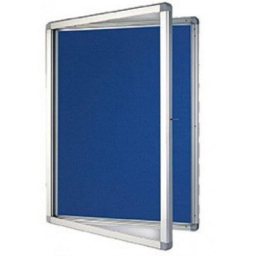 Franken display case eco outdoor felt blue 9 x a4 sk9pte03 for Exterior display case